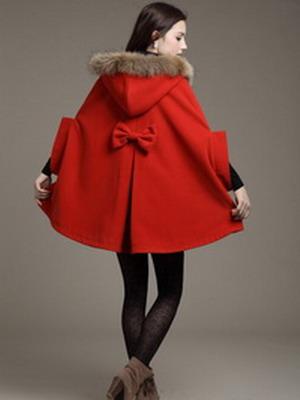 Пальто кашемир с меховым воротником