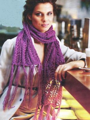 Вязание самого красивого шарфа