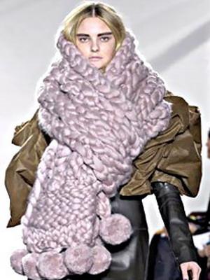 красивые вязаные шарфы фото