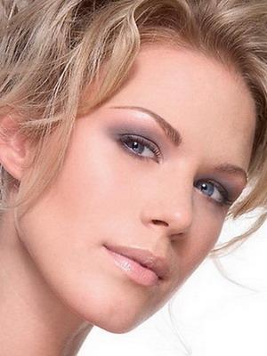 Свадебный макияж для серо голубых глаз