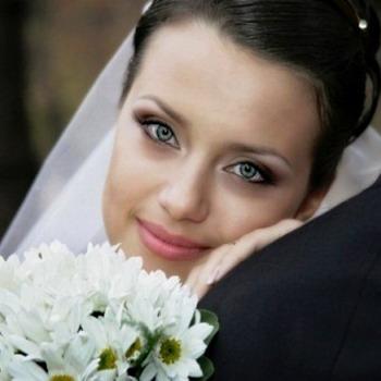 Макияж на зеленые глаза свадебный