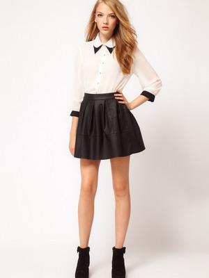 Модели блузок под юбку