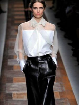 модели жилета с юбкой из кожи: