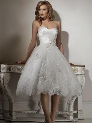 свадебные платья короткие 2015