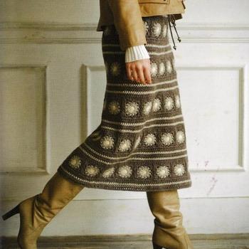 Вязание юбка для зимы