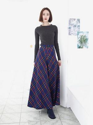 Тёплая длинная юбка фото