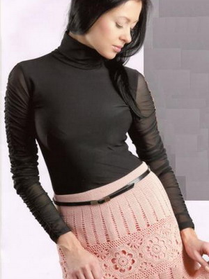Вязаны юбка с блузкой 16