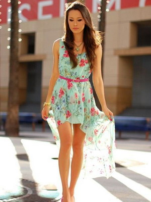 Легкие короткие платья фото