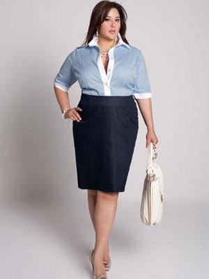 Модные юбки для полных женщин на 2015