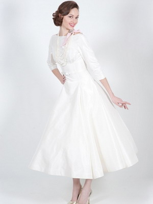 Стиль ретро платье свадебное