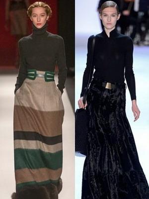 Длинную юбку в пол модели