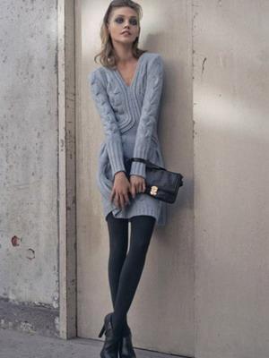 ec5dac0105b Вязаные платья 2019  фото модных моделей и с чем носить весной ...