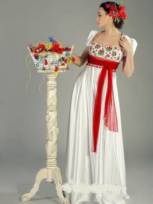 Платье свадебное в маках