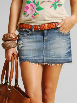 Джинсовые юбки мини фото 614-621
