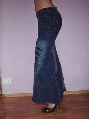 Длинные джинсовые юбки турция