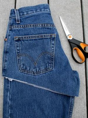 Как сделать из джинс короткие шорты