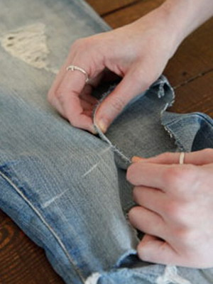 Юбка из джинс своими руками