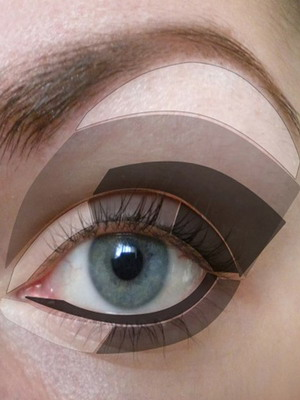 как накрасить глаза тенями фото