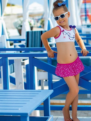 Детская пляжная мода 2018 для девочек фото