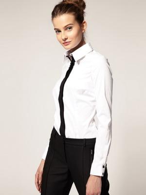 Белая рубашка женская мужского кроя купить