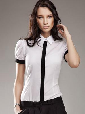 46fc36ca593 В таких как на фото белых женских рубашках заложен истинный код  элегантности
