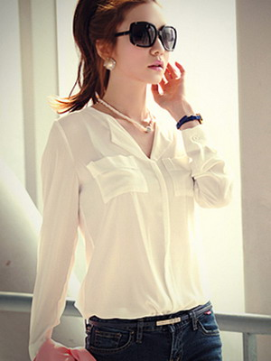 76ce5fe1fe21 Стильные белые женские рубашки на 2019 год: фото модных и красивых ...