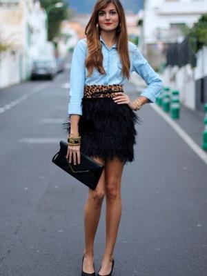 Какую юбку носить с джинсовой рубашкой