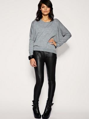 кожаные штаны женские фото