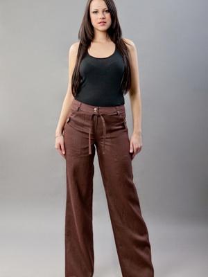 Женские льняные брюки (55 фото): с чем носить, летние, широкие ... | 400x300