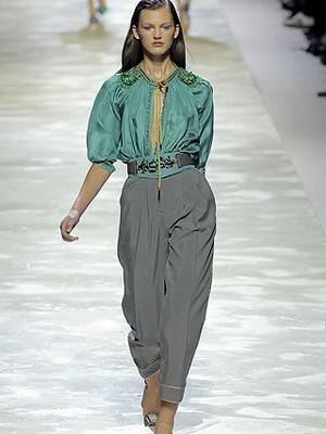 Шелковые брюки женские