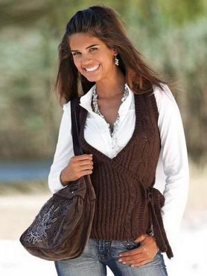 жилеты женские вязанные фото
