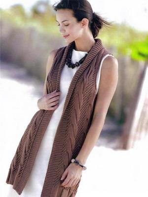 модные женские вязаные жилетки на 2019 год фото с чем носить