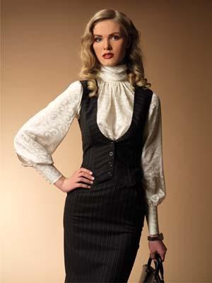 Стильные жилетка и юбки
