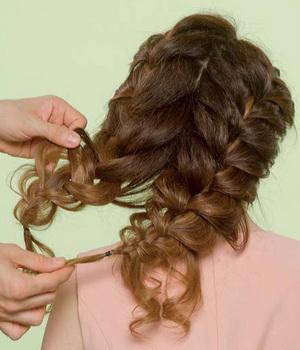 Прически из кос объемные