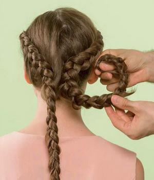 Пошаговые прически с плетением кос
