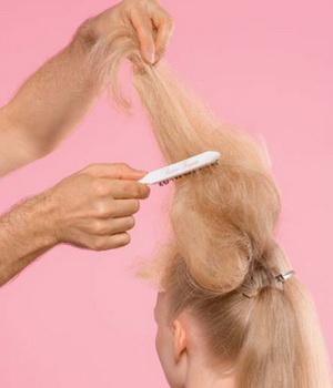 Прически при помощи сеточками для волос