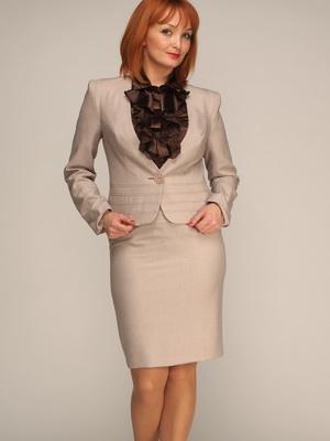 Костюмы женские деловые юбка пиджак