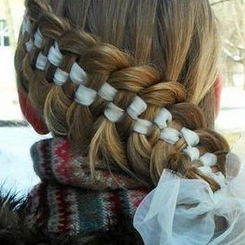 коса с лентой пошагово фото