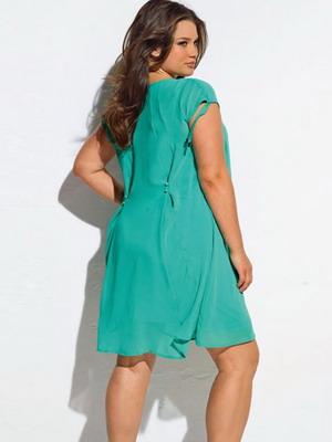 Простые платья на лето полным