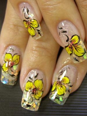 Дизайн ногтей с бусинками фото