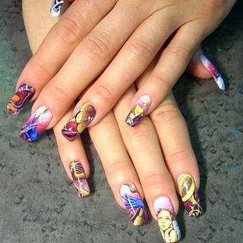 Роспись на ногтях для начинающих с