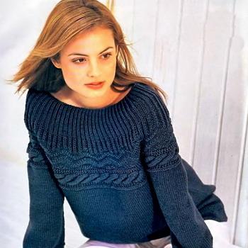 Джемпер женский с рубашкой