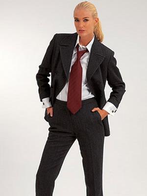 Когда и почему женщины начали носить галстуки 99