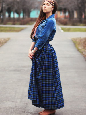 Длинные юбки и джинсовые пиджаки