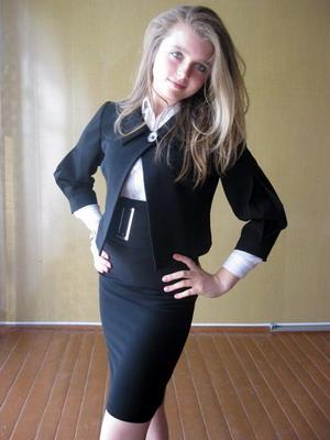 Юбка школьная для девочек узкая
