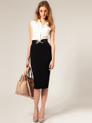 Юбка и блузка деловой стиль