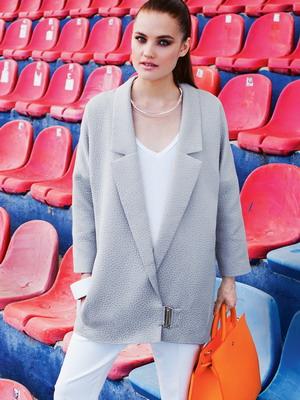 фасоны женских пиджаков без воротника фото