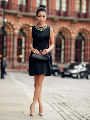 Женские образы фото в черном платье
