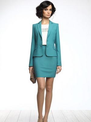 Модели костюмов юбка и пиджак