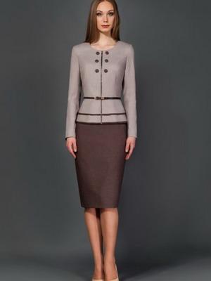 Костюм классический юбка и жилет